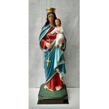 Imagem De Nossa Senhora Do Rosário Em Gesso 88 Cm