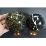Kit 2 Esferas ! Granito + Jaspe Bolas Pedra Natural Goldmb