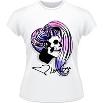 Baby Look Lady Gaga Guy Poker Face Pop Camiseta Camisa