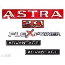 Emblemas Astra 2.0 Flex Advantage 04 À 11 - Modelo Original