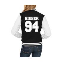 Jaqueta College Feminina Justin Bieber 94 Casaco Moletom