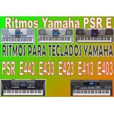 Ritmos Yamaha Psr E443 E433 E423 E413 E403...
