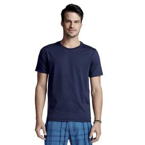 Kit C/2 Camiseta Masc Básica Em Algodão Pima