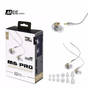 Fone Mee Pro M6 Retorno De Palco Audio Branco Ponto Monitor