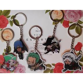 Jogo Com 5 Chaveiros De One Piece - Zoro, Law, Jewelry Boney