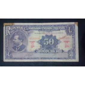 Cedula R130 - 50 Mil Reis - Brasil 1936