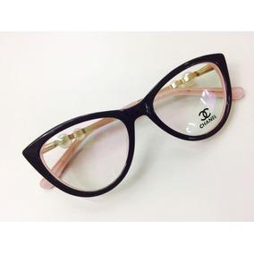 536aac2fc2823 Oculos Para Grau Chanel Preto E Rosa Com Perolas -cn602. R  134 90