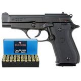 Pistola Fogueo 9mm Bruni 84 Replica Beretta + 50 Municiones