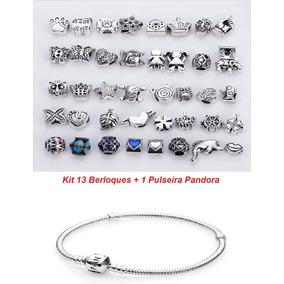 Kit 13 Berloques + 1 Pulseira Bracelete Pandoras