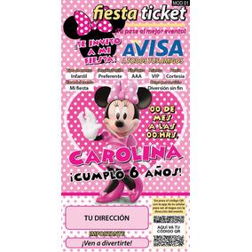 Invitaciones Mimi, Minnie Mouse Rosa Personalizadas