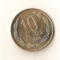Moeda De10 Pesos 2005 Republica De Chile