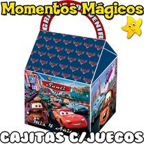 10 Cajita Cars Disney Valijita Bolsita Golosinera + 7 Juegos