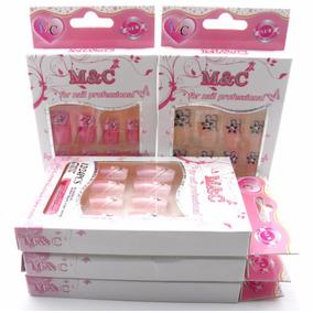 Kit Unha Postiça 12 Caixas Decorada Para Salao Manicure