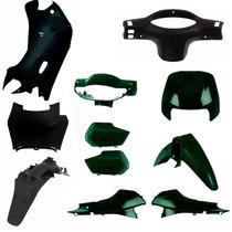 Kit Carenagem Completa Biz 100 Ano 2003 2004 Verde Metalico