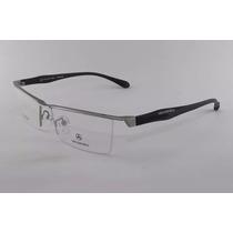 Armação Para Oculos De Grau Mercedes-benz Prata Com Preto