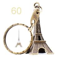 Kit 60 Chaveiros Torre Eiffel Paris Bronze França Metal