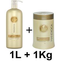 Kit Haskell Mandioca Shampoo 1 Litro E Máscara 1 Kg