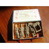 Guerreiros Xian Antigos Estátuas Terracota Caixa 5 Unidades