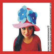 Sombrero Espuma Flores Boda Xv Fiesta Lente Peluca Gorro