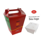 3.000 Pçs Caixa Embalagem Delivery 4 Pizza Cone Personaliza
