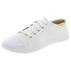Tênis Feminino Casual Branco/croco Moleca - 5605112