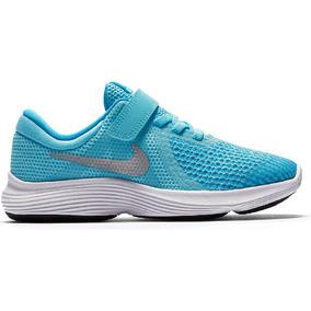 Tenis Nike Revolution 4 Celeste Preescolar 16.5-22 Original