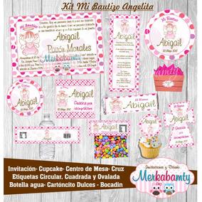 Invitacion Bautizo Niña Búho Vintage Jaulas Kit Imprimelo Tú