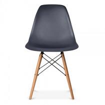 Cadeira Sala Jantar Charles Eames Wood Branca Ou Preta