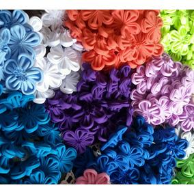 Flores De Tela 5 Pétalos. Lazos. Cintillos. Banda Elásticas