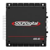 Potencia Amplificador Soundigital 400.4d Evo