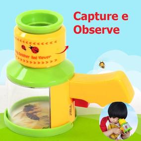 Caça - Insetos Com Microscópio Brinquedo Educativo Novidade