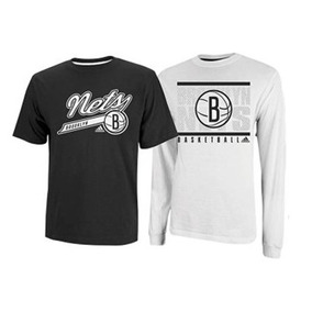 Kit 2 Camisas Nba Brooklin Nets adidas - Original