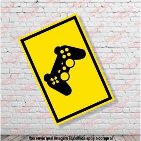 Placa Decorativa Controle Quarto Gamer Games Ps4 Xbox (p)