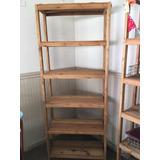 Estanterias De Madera Usadas Rusticas Muebles Y Bibliotecas Usado - Estanterias-rusticas-de-madera