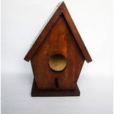 Pajarera / Casa Para Pájaros De Madera Con Silueta
