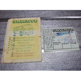 Boleto Y Sobre Antiguo Autobuses Oriente