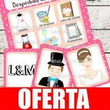 Loteria Despedida De Soltera Juegos Kit Imprimible Hermoso