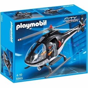 Playmobil 5563 Helicoptero Policia Especial Original Intek