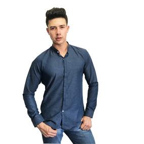 Camisa Slim Fit Mao Marino - Peaceful