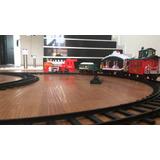 Tren Expreso De Navidad Grande Luces Emite Humo 5 Metros