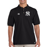 Playera Polo Yankees Nueva York M-01 By Tigre Texano Designs