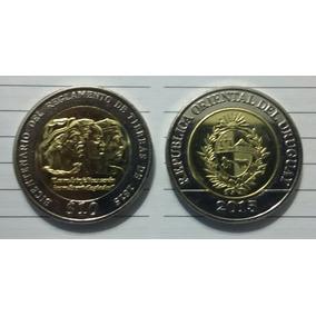 Uruguay. Nueva Moneda 10 Pesos Año 2015. S / C . Bimetalica