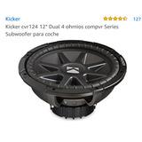 Kicker Cvr124 12 Dual 4 Ohmios Compvr Series Subwoofer