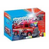 Playmobil Camion De Bomberos Con Luz Y Sonido 5980 Autobomba