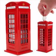 Miniatura Cabine Telefônica Londres Cofre Metal Promoção