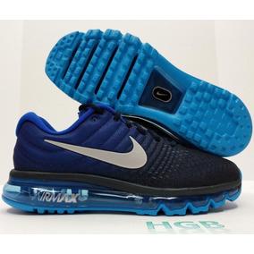 Nike Air Max 2017 Para Hombre Obsidiana Azul Negro Blanco 8 3324e6d995bb4