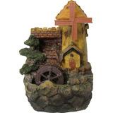 Fonte Moinho Com Torre Castelo Roda D Água - Tm 4015