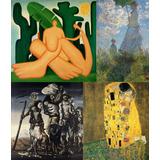 Obras De Arte De Pintores Famosos Impressão Hd Tam. Grande