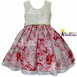 Vestido Festa Infantil Floral Daminha Tam 04 Ao 16 Promoção