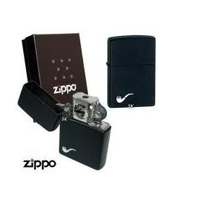 Encendedor Zippo Negro Matte Para Pipa Envio Y Gas Gratis
